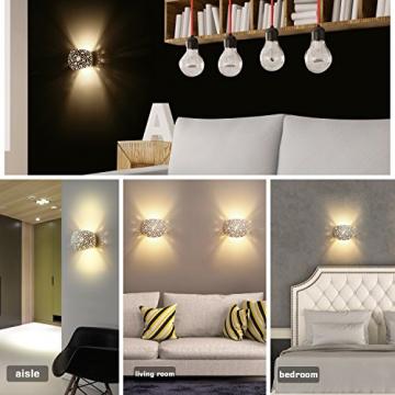 Applique Lampada da Parete LED 5W gesso Lampada da intonaco Design moderno su e giù Apparecchi di illuminazione da parete per interni Forma a sfera rotonda Bianco caldo (Include lampadine G9) - 5