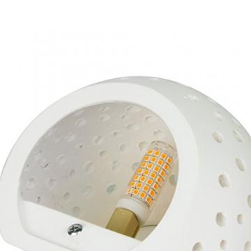 Applique Lampada da Parete LED 5W gesso Lampada da intonaco Design moderno su e giù Apparecchi di illuminazione da parete per interni Forma a sfera rotonda Bianco caldo (Include lampadine G9) - 7