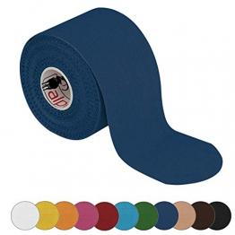 BB Sport 1 rotolo di nastro kinesiologico 5 m x 5,0 in varia colori, Colore:blu scuro - 1