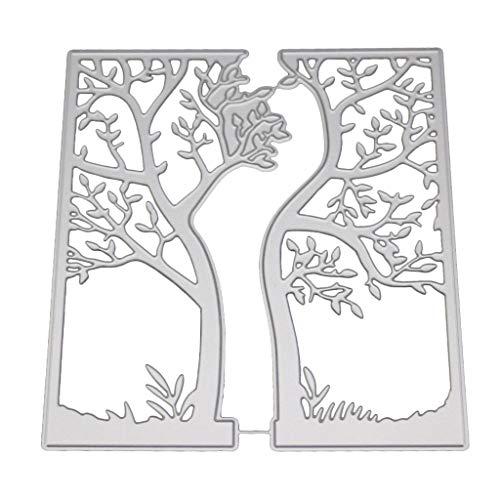BouT - Fustella in acciaio al carbonio, motivo: albero pasquale, per biglietti di auguri, scrapbooking, fai da te - 1