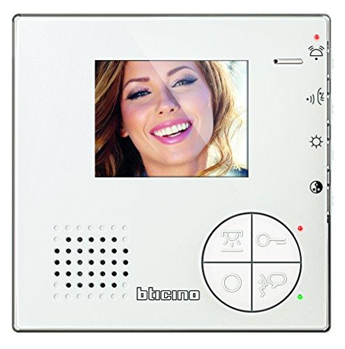Bticino 344502 Videocitofono 2 Fili Vivavoce a Colori, Bianco - 1