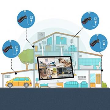 【All-In-One】Kit Videosorveglianza Wifi NVR 1080P 4 Canali con monitor LCD da 15,6 pollici, Telecamera da CCTV IP 1080P HD da esterno senza fili, Plug & Play, accesso remoto facile, con 1TB HDD SWINWAY - 5