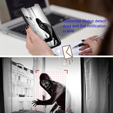 【All-In-One】Kit Videosorveglianza Wifi NVR 1080P 4 Canali con monitor LCD da 15,6 pollici, Telecamera da CCTV IP 1080P HD da esterno senza fili, Plug & Play, accesso remoto facile, con 1TB HDD SWINWAY - 8