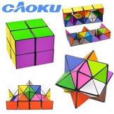 EFG Infinity Caoku 2017Nuovi Unlimited Fidget cubo Magico con Triangolare di Inside Stress Anxiety Relief Toy, Multi, Star - 1