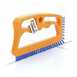 FUGINATOR® Spazzola per Fessure - arancione/blu - Universale per Bagno, Cucina e casa - 1
