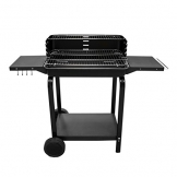 GardenKraft 19600 60 x 40 cm Antracite Trolley BBQ – Marrone - 1
