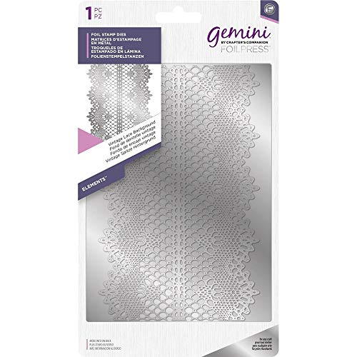 Gemini Crafter' s Companion Hot foil stamp die–elementi vintage Lace - 1