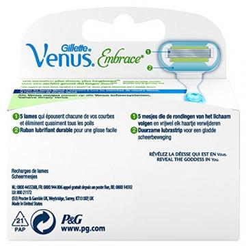 Gillette Venus Embrace Rasoio, 1 confezione con 4 ricambi - 2