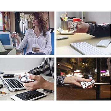 Giocattolo Fidget Infinite Cube in lega di alluminio, Gadget da dito rotante Pocket Cube per bambini e adulti Sollievo anti-stress e ansia, ottimo per Viaggi, Casa e ufficio, Multicolore - 6