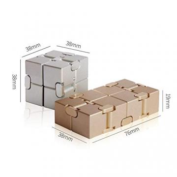 Giocattolo Fidget Infinite Cube in lega di alluminio, Gadget da dito rotante Pocket Cube per bambini e adulti Sollievo anti-stress e ansia, ottimo per Viaggi, Casa e ufficio, Multicolore - 7