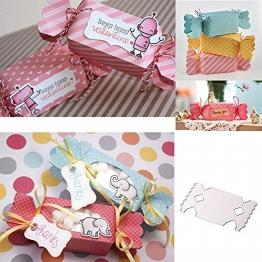Gmgqsago die tagli Candy Gift Box fustelle in metallo, modello DIY scrapbooking album decorazione–argento - 1