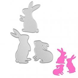 Gmgqsago die tagli carino conigli da taglio stencil DIY carta scrapbooking goffratura Craft–argento - 1