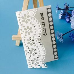 Gmgqsago fustelle bordo in pizzo floreale in acciaio al carbonio da taglio goffratura stencil DIY di carta Decor–argento - 1