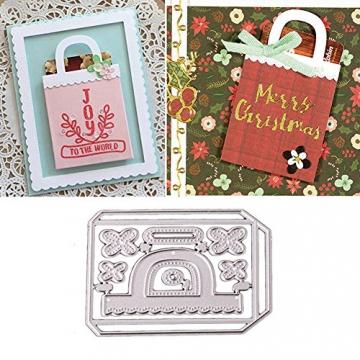 Gmgqsago fustelle fustelle in metallo, decorazione regalo borsa borsetta scrapbooking Paper Craft album Art–argento - 2
