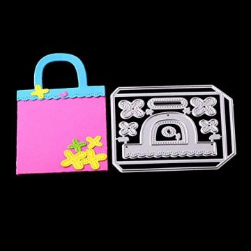 Gmgqsago fustelle fustelle in metallo, decorazione regalo borsa borsetta scrapbooking Paper Craft album Art–argento - 4