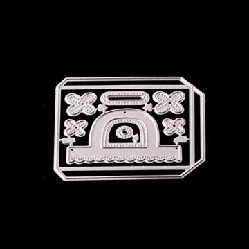 Gmgqsago fustelle fustelle in metallo, decorazione regalo borsa borsetta scrapbooking Paper Craft album Art–argento - 5
