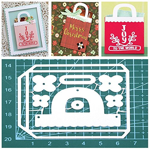 Gmgqsago fustelle fustelle in metallo, decorazione regalo borsa borsetta scrapbooking Paper Craft album Art – argento - 1