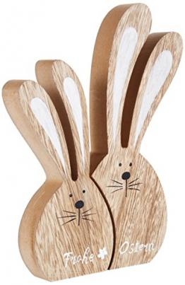 HEITMANN DECO Legno di lepri Set Buon Pasqua, Naturale, 16x 2,5x 24cm, 2unità - 1