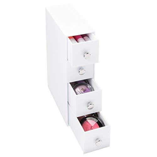 InterDesign 36562EU 4 Cassetti a Torre, Bianco, 7x18x25.5 cm - 1