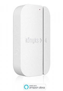 konyks senso–Sensore di apertura Wi-Fi compatibile con Google Home e Amazon Alexa, notifica su smartphone e azione su altro dispositivo,nessun Hub necessario - 1