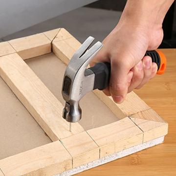 Martello da Carpentiere Tacklife HMH2A Mini Martello con Testa Magnetica e Antiscivola, Maniglia Morbida ed Egronomica per Riparazioni, Bricolage - 6
