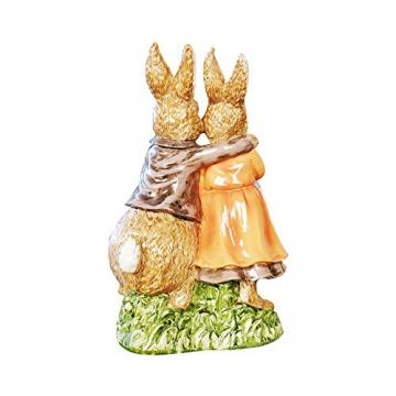 misslight Statuette del Coniglietto di Pasqua Ornamenti in Resina Decorazione di Pasqua del Coniglio (Style2) - 3