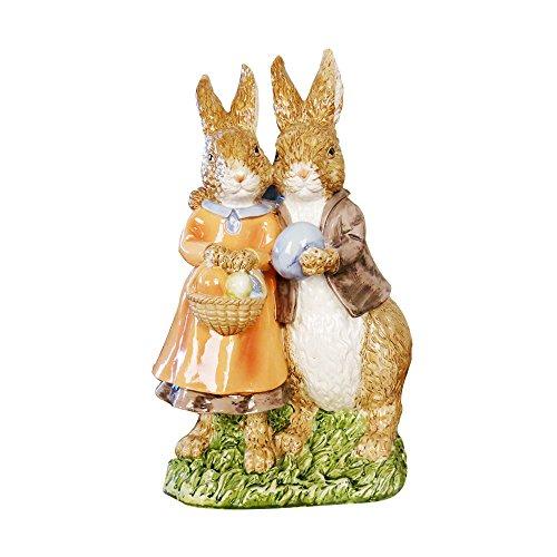 misslight Statuette del Coniglietto di Pasqua Ornamenti in Resina Decorazione di Pasqua del Coniglio (Style2) - 1