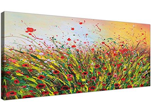 Moderna stampa artistica su tela motivo floreale astratto Summertime per salotto,1262,Wallfillers® - 1