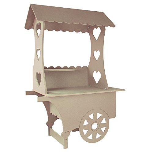 Monster Shop - Carretto dei Dolci in Legno MDF per Matrimonio, Compleanno e Battesimo 132cm x 87cm x 48cm - 1