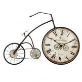 Orologio da Parete Bicicletta/Orologio da Parete Vintage, Numeri Romani in Ferro battuto Orologio Decorativo, Adatto per Soggiorno, Sala da Pranzo, Bar (59 × 38,5 cm) - 1