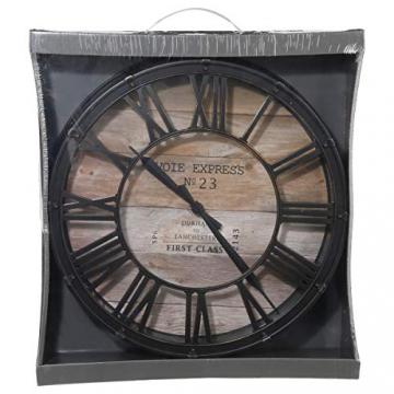 Orologio da parete stile vintage - Colore marrone ramato effetto invecchiato - Diametro 39cm . - 2