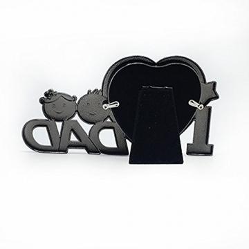 OULII Io amore papà metallo fotografia cornice festa del papà regali Home decorazione (argento) - 3