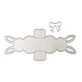 P12cheng Fustelle in metallo, effetto 3D, a forma di coniglietto pasquale, per fai da te, scrapbooking, carta, stencil – argento - 1