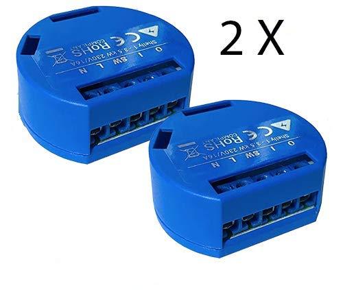 Pacco doppio Shelly 1 One interruttore relè Wireless WiFi Compatibile Alexa e Google Home e MQTT - 1