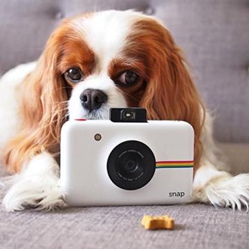 Polaroid Fotocamera Digitale a Scatto Istantaneo  con Tecnologia Di Stampa a Zero Inchiostro Zink, Bianco - 11
