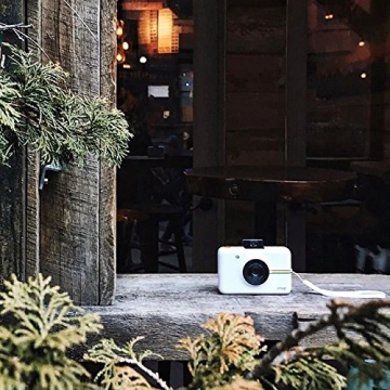 Polaroid Fotocamera Digitale a Scatto Istantaneo  con Tecnologia Di Stampa a Zero Inchiostro Zink, Bianco - 13