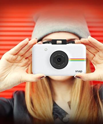 Polaroid Fotocamera Digitale a Scatto Istantaneo  con Tecnologia Di Stampa a Zero Inchiostro Zink, Bianco - 14