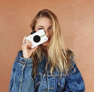 Polaroid Fotocamera Digitale a Scatto Istantaneo  con Tecnologia Di Stampa a Zero Inchiostro Zink, Bianco - 8