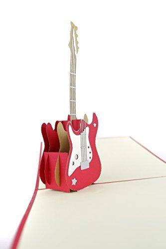 PopLife Cards Biglietto di auguri pop-up per papà giorno per chitarra, per tutte le occasioni festa del papà, buon compleanno, anniversario, laurea, pensionamento, musicisti, insegnante, studente, am - 1