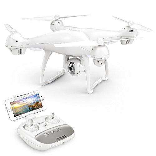 Potensic Drone GPS con Telecamera 1080P Drone T35 Dual GPS con Grandangolare-Regolabile Camera HD WiFi FPV Quadricottero Funzione Seguimi, Altitudine Attesa, Controllo di più Lunga Distanza - 1