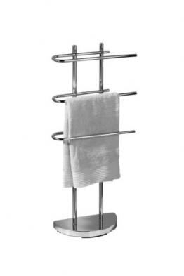 Premier Housewares Porta asciugamani da pavimento cromato con 3 bracci a U - 1