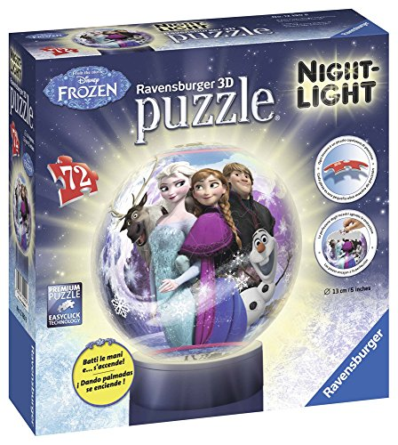 Ravensburger Italy Disney Frozen Puzzle 3D Lampada Notturna, 12190 - 1