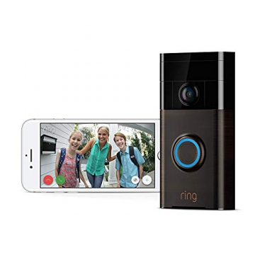 Ring Video Doorbell – Videocitofono 720p HD con sistema audio bidirezionale, sensore di movimento e connessione wi-fi, Bronzo Veneziano - 2