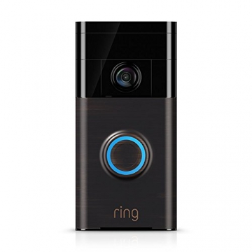 Ring Video Doorbell – Videocitofono 720p HD con sistema audio bidirezionale, sensore di movimento e connessione wi-fi, Bronzo Veneziano - 1