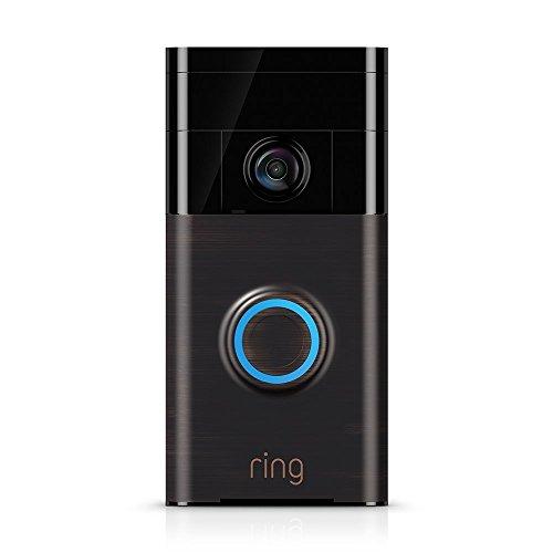 Ring Video Doorbell – Videocitofono 720p HD con sistema audio bidirezionale, sensore di movimento e connessione wi-fi, Bronzo Veneziano - 1
