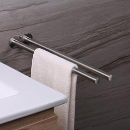 Ruicer Portasciugamani da Parete - Porta Asciugamani Bagno da Muro 2 bracci Acciaio INOX 40 cm Accessori per il Bagno - 1