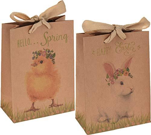 Sacchetti regalo con motivo pasquale, 12 pezzi, 18 x 23 x 8 cm, per regali - 1
