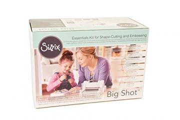 Sizzix 661545 Big Shot Starter Kit, Machina per Tagliare e Goffrare, Bianco/Grigio, 41.7x29x23.1 cm - 6