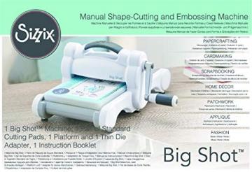 Sizzix Big Shot Macchina Singola per Tagliare e Goffrare, Acciaio Inossidabile, Bianco/Grigio, 17x31x36.2 cm - 3