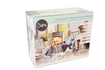 Sizzix Big Shot Plus Starter Kit, Acciaio Inossidabile, Bianco/Grigio, Larghezza A4 (19x29.9x40 cm) - 4